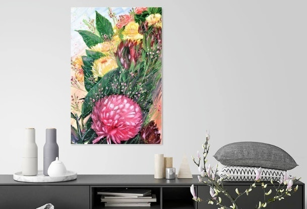 (CreativeWork) Every scenery in life is better with you  - LIMITED EDITION GICLEE PRINT on stretched canvas - Ready to hang  Ed. 1 of 100 by HSIN LIN. Print. Shop online at Bluethumb.