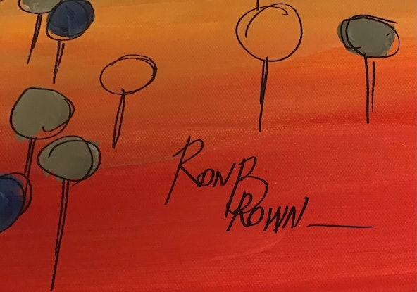 (CreativeWork)  Kimberly calling by Ron Brown. Acrylic Paint. Shop online at Bluethumb.