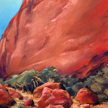 (CreativeWork) Valley of the winds, Kata Tjuta II by Giulianna Del Popolo. Drawing. Shop online at Bluethumb.