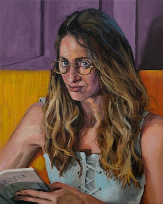 (CreativeWork) Holly, interrupted. by James Needham. Oil Paint. Shop online at Bluethumb.
