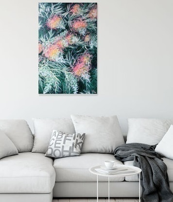 (CreativeWork) Courageous Love - LIMITED EDITION GICLEE PRINT on stretched canvas - Ready to hang  Ed. 2 of 100 by HSIN LIN. Print. Shop online at Bluethumb.