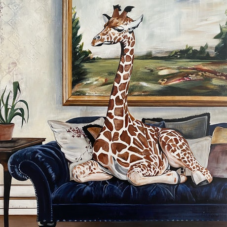 (CreativeWork) Lazy Girafternoon Print  Ed. 8 of 100 by Bonnie Larden. Print. Shop online at Bluethumb.