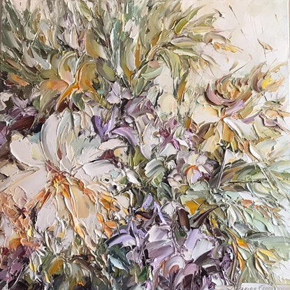 (CreativeWork) Bunch of love No 37 by Liliana Gigovic. Oil Paint. Shop online at Bluethumb.