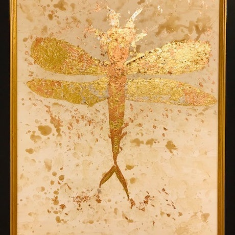 (CreativeWork) Dragonfly by Roberta Sky. Acrylic Paint. Shop online at Bluethumb.