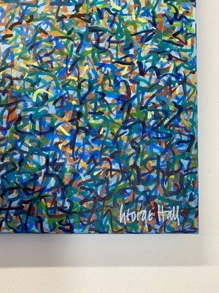 (CreativeWork) Sydney Garden Dance 152 x 61cm Acrylic on canvas by George Hall. Acrylic Paint. Shop online at Bluethumb.