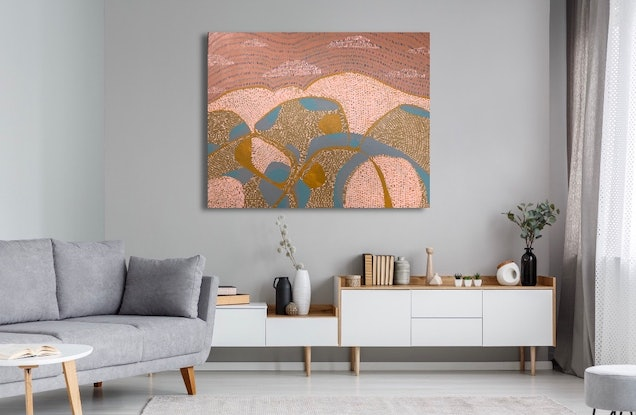 (CreativeWork) The Rain Has Come by Abstract Momo. Acrylic Paint. Shop online at Bluethumb.