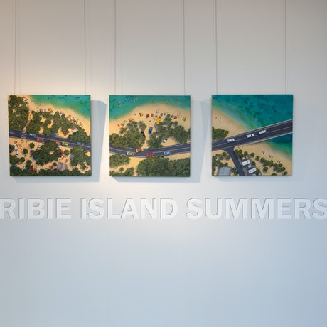 (CreativeWork) Bribie Island Summers (Triptych) by Pete Martin. Acrylic Paint. Shop online at Bluethumb.