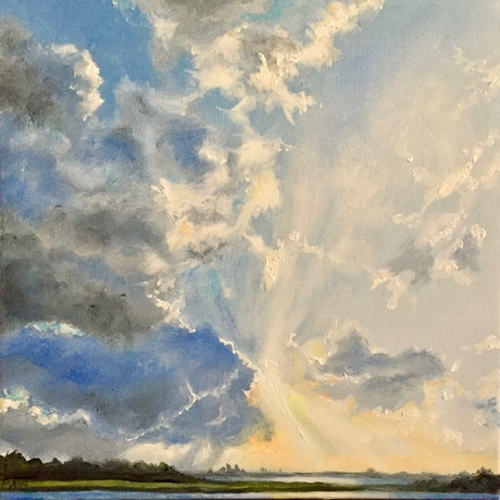 (CreativeWork) New Day by Cathy Yarwood - Mahy. Oil Paint. Shop online at Bluethumb.