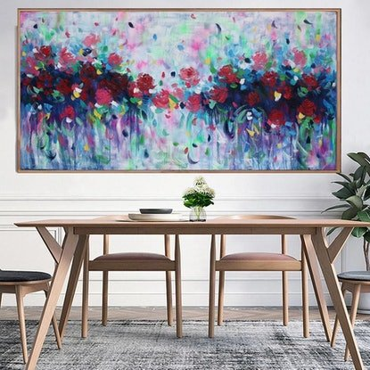 (CreativeWork) Violets are blue by Belinda Nadwie. Oil Paint. Shop online at Bluethumb.