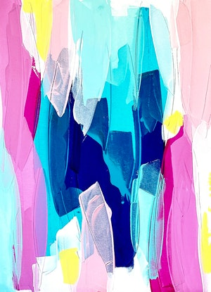 (CreativeWork) Chasing Waterfalls by Maggi McDonald. Acrylic Paint. Shop online at Bluethumb.