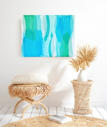 (CreativeWork) A Walk In The Shallows by Maggi McDonald. Acrylic Paint. Shop online at Bluethumb.
