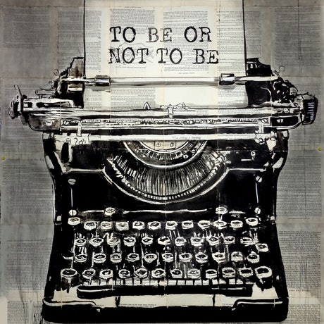 (CreativeWork) TO BE OR NOT TO BE by loui jover. Mixed Media. Shop online at Bluethumb.