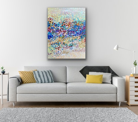 (CreativeWork) Dancing Petals  by Theo Papathomas. Oil Paint. Shop online at Bluethumb.