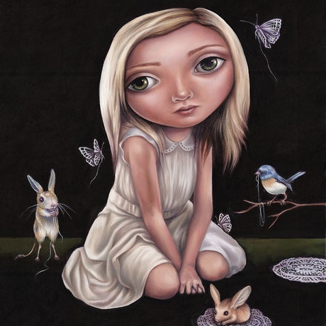 (CreativeWork) The Gatherers by Rachel Favelle. Oil Paint. Shop online at Bluethumb.