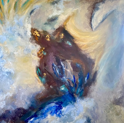(CreativeWork) The Break by Tracey Berthold. Acrylic Paint. Shop online at Bluethumb.