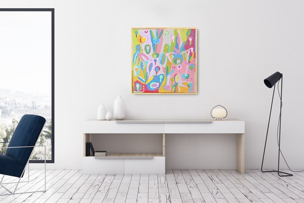 (CreativeWork) 'If I Could' by Karen Lee. Acrylic Paint. Shop online at Bluethumb.