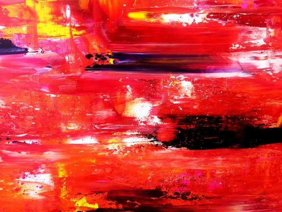 (CreativeWork) Überleitung by Estelle Asmodelle. Acrylic Paint. Shop online at Bluethumb.