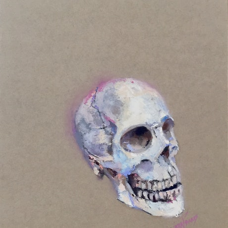 (CreativeWork) Skull by Mirjana Psakis. Oil Paint. Shop online at Bluethumb.