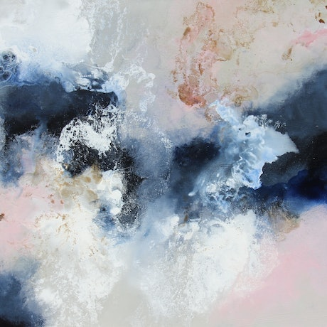 (CreativeWork) Floating  clouds by Sue Dyde. Mixed Media. Shop online at Bluethumb.