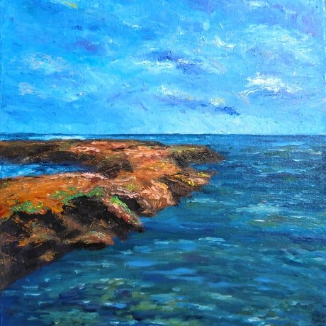 (CreativeWork) King Tides by Trista Henfling. Oil Paint. Shop online at Bluethumb.