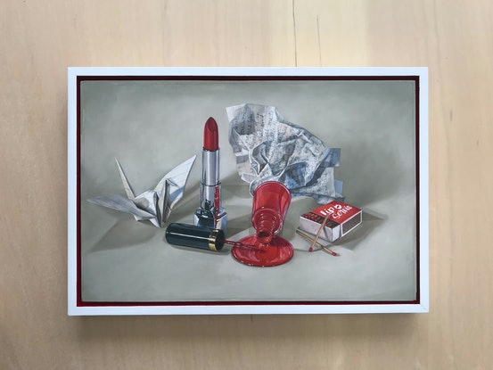 (CreativeWork) Lip Service by Melissa Ritchie. Oil Paint. Shop online at Bluethumb.