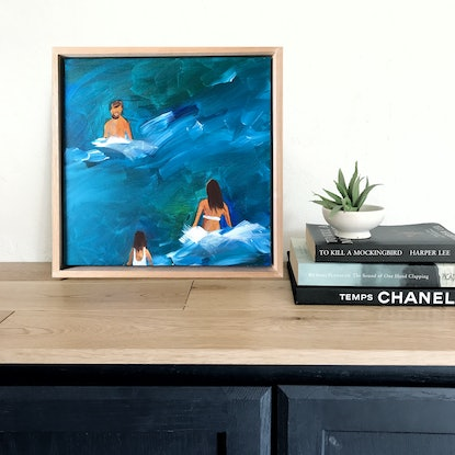 (CreativeWork) Family Swim by Marnie McKnight. Acrylic Paint. Shop online at Bluethumb.