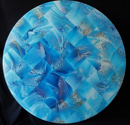 (CreativeWork) Our Planet by Tina Dawes. Mixed Media. Shop online at Bluethumb.