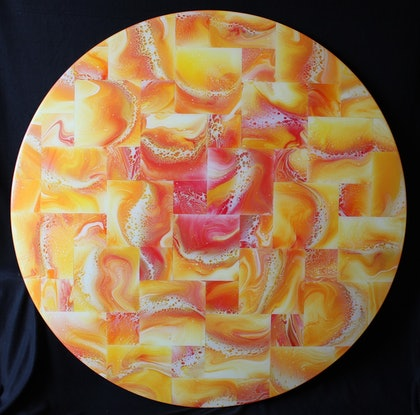 (CreativeWork) Our Sun by Tina Dawes. Mixed Media. Shop online at Bluethumb.