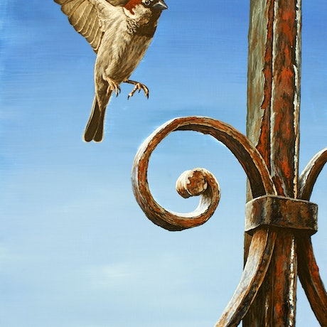 (CreativeWork) Rustic Landing by Craig Williams. Acrylic Paint. Shop online at Bluethumb.