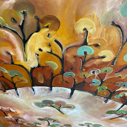 (CreativeWork) After the Gold Rush III by Michael Wolfe. Acrylic Paint. Shop online at Bluethumb.