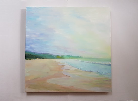(CreativeWork) HYAMS BEACH by Suzy Strout. Oil Paint. Shop online at Bluethumb.