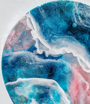 (CreativeWork) Aura  by Emiley Rose. Resin. Shop online at Bluethumb.