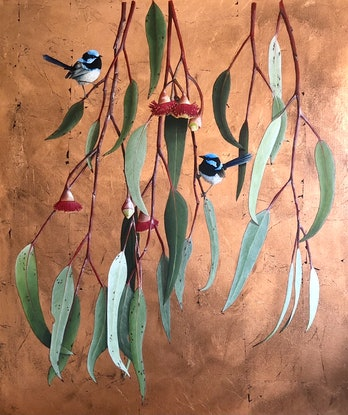 (CreativeWork) Flora and Fauna  by Bec Bartell. Acrylic Paint. Shop online at Bluethumb.