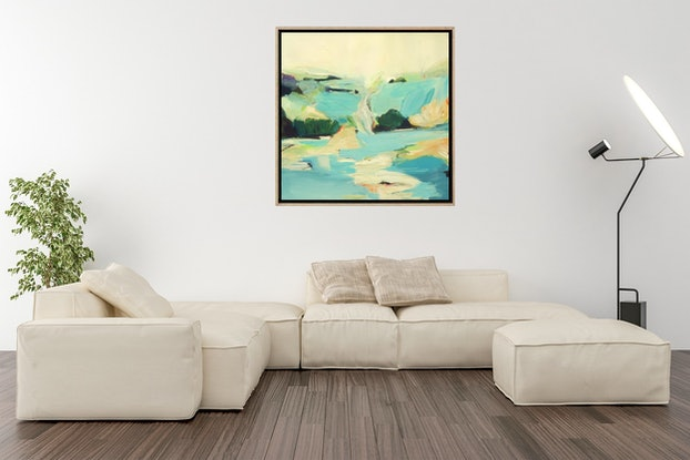 (CreativeWork) Water Meditation - Landscape Painting   by Brenda Meynell. Acrylic Paint. Shop online at Bluethumb.