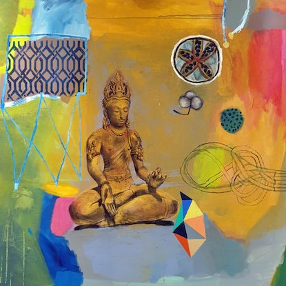 (CreativeWork) Buddha by Elizabeth Wojciak. Mixed Media. Shop online at Bluethumb.