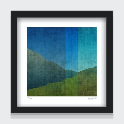 (CreativeWork) Wanaka Land Series- Set of 3- Black Box Frame Ed. 2 of 35 by George Hall. Print. Shop online at Bluethumb.
