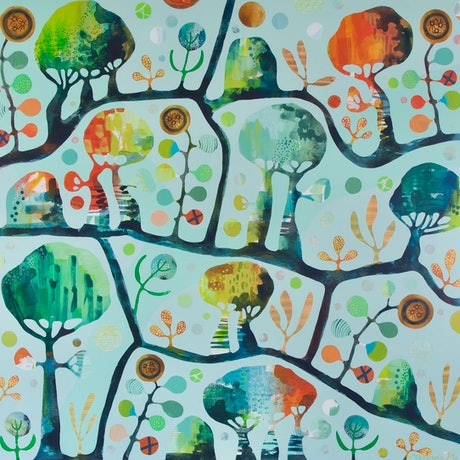 (CreativeWork) The Jade Tree by Melinda Pile. Acrylic Paint. Shop online at Bluethumb.