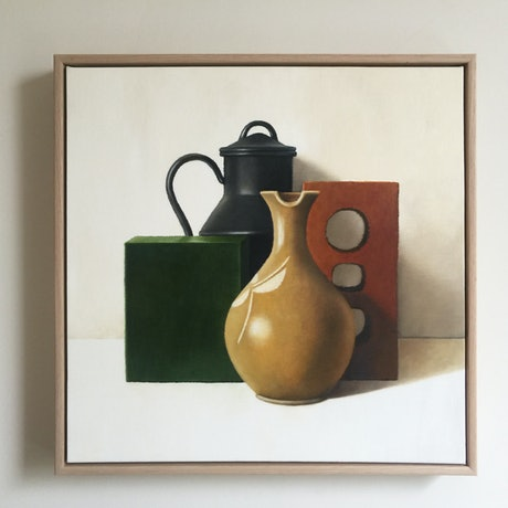 (CreativeWork) Arrangement 21 by Jane Reynolds. Oil Paint. Shop online at Bluethumb.