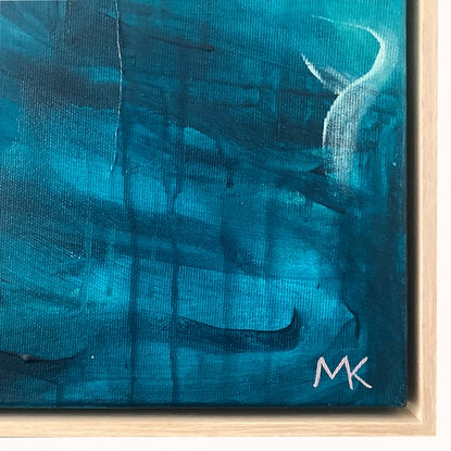 (CreativeWork) Sapphire Beach by Michelle Khourey. Acrylic Paint. Shop online at Bluethumb.
