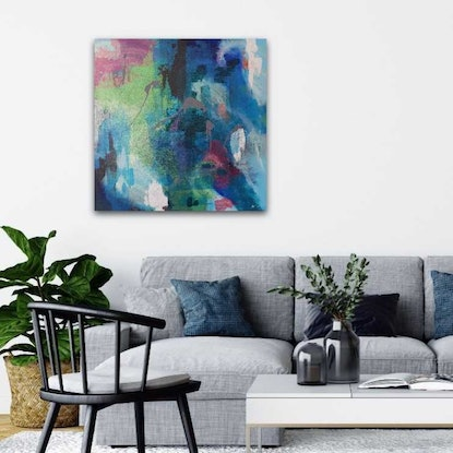 (CreativeWork) Wistful by Kate Wise. Acrylic Paint. Shop online at Bluethumb.