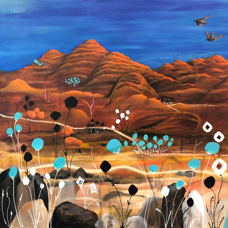 (CreativeWork) Bungle Bungle Whimsy. (Purnululu National Park) by Marion Rispin. Acrylic Paint. Shop online at Bluethumb.
