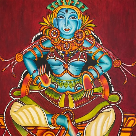 (CreativeWork) Memories of India. The Goddess Kali by Linda McGowan. Oil Paint. Shop online at Bluethumb.