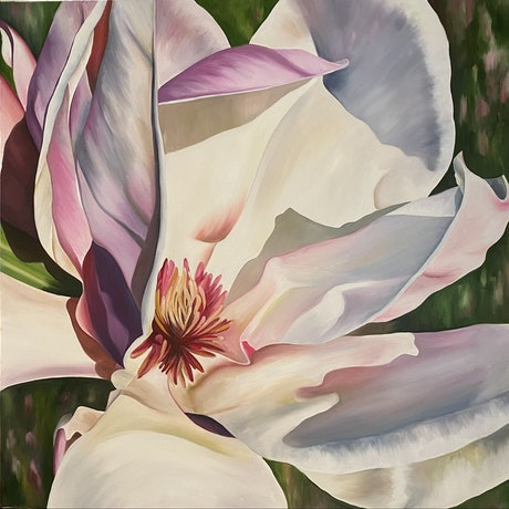 (CreativeWork) Magnolia in the Sunshine by Linda McGowan. Oil. Shop online at Bluethumb.