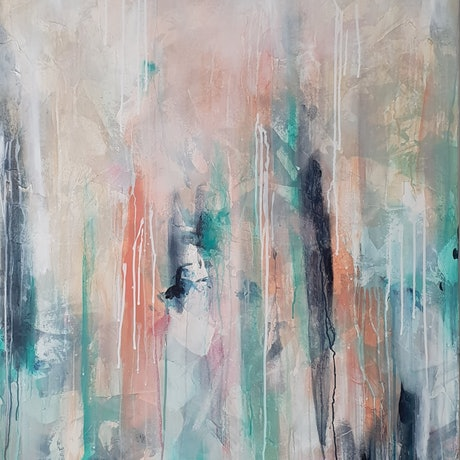 (CreativeWork) Happening by Emily Snow. Mixed Media. Shop online at Bluethumb.