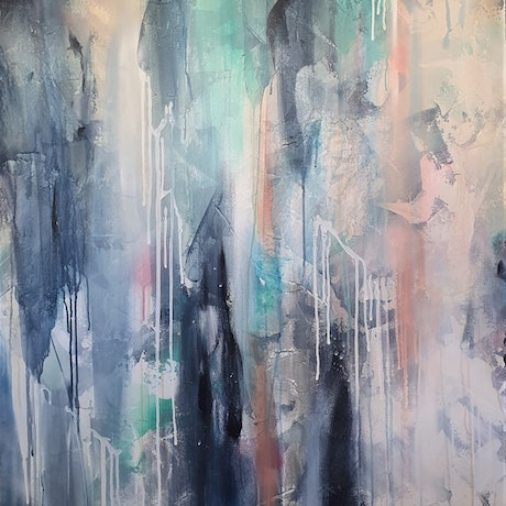 (CreativeWork) Past and Present by Emily Snow. Mixed Media. Shop online at Bluethumb.