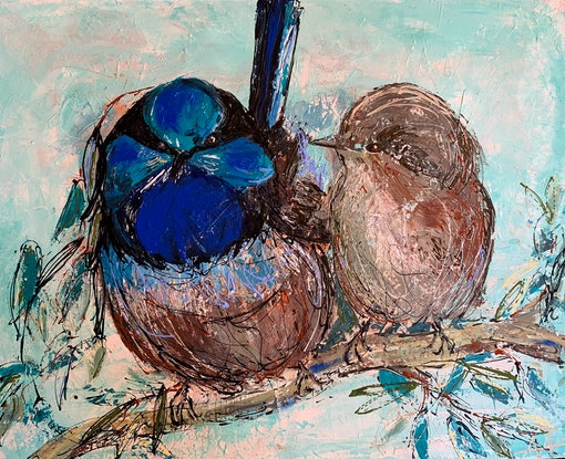 (CreativeWork) 'You don't have a Covid body' by Anita Parker. Acrylic. Shop online at Bluethumb.