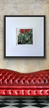 (CreativeWork) Dancing Red Natives 1 by Tania Daymond. Drawings. Shop online at Bluethumb.