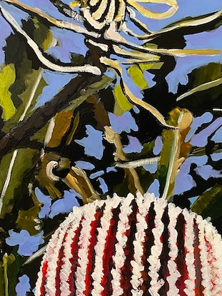 (CreativeWork) 40 By Noon  by Belinda Jeanes. Acrylic Paint. Shop online at Bluethumb.