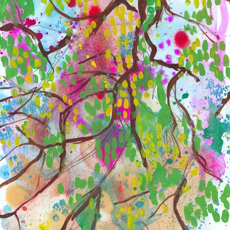 (CreativeWork) Looking up from Under a Tree, Beare Park by John Douglas. Other Media. Shop online at Bluethumb.