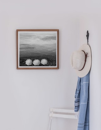 (CreativeWork) Three in stripes Ed. 1 of 5 by Wendy Philip. Photograph. Shop online at Bluethumb.